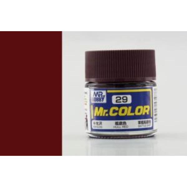 C 029 краска 10мл HULL RED