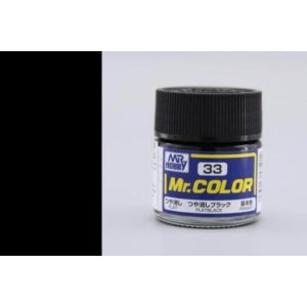 C 033 краска 10мл FLAT BLACK