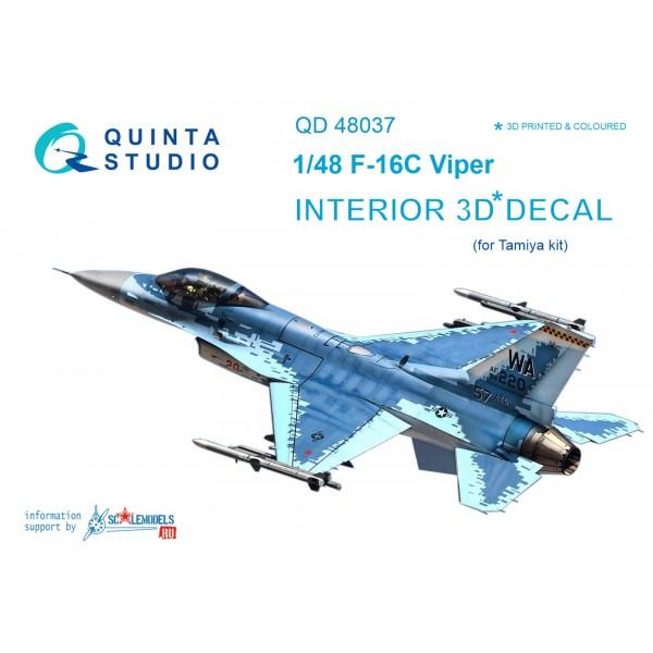 3D Декаль интерьера кабины F-16С (для модели Tamiya)