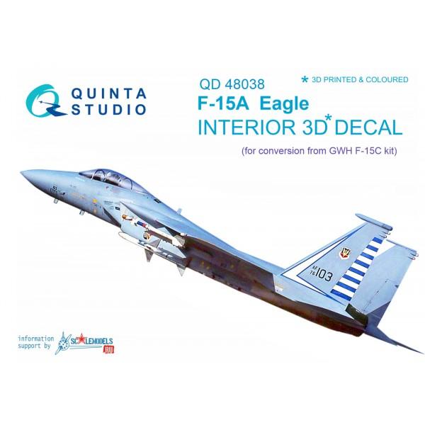 3D Декаль интерьера кабины F-15A (для модели GWH)