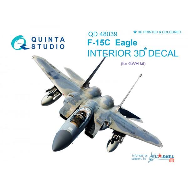 3D Декаль интерьера кабины F-15C (для модели GWH)