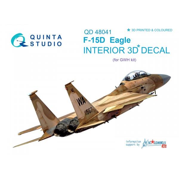 3D Декаль интерьера кабины F-15D (для модели GWH)