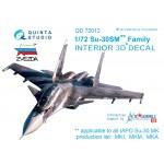 3D Декаль интерьера кабины Су-30СМ (для модели Звезда)