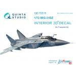 3D Декаль интерьера кабины МиГ-31ДЗ (для модели Trumpeter)