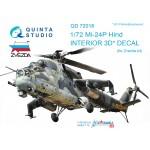 3D Декаль интерьера кабины  Ми-24П (для модели Звезда)
